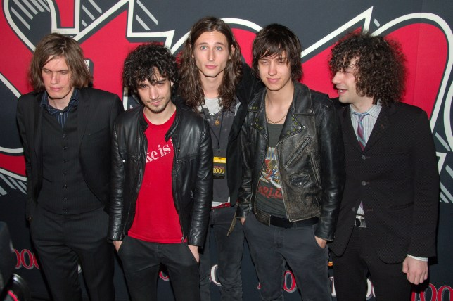 Nikolai Fraiture, Fabrizio Moretti, Nick Valensi, Julian Casablancas and Albert Hammond, Jr. of The Strokes (Photo by Michael Loccisano/FilmMagic)