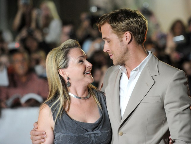 "TORONTO, ON - SEPTEMBER 09: Actor Ryan Gosling (R) and mother Donna Gosling arrive at ""Ides Of March"" Premiere at Roy Thomson Hall during the 2011 Toronto International Film Festival on September 9, 2011 in Toronto, Canada. (Photo by Jason Merritt/Getty Images)"