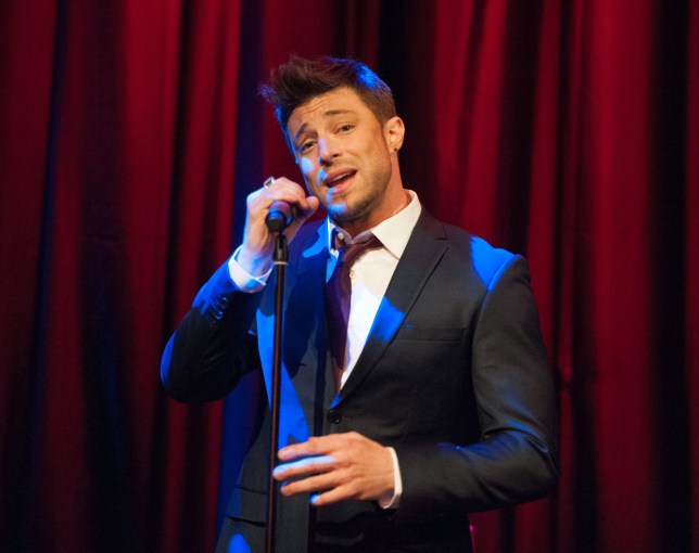 LONDON, UNITED KINGDOM - AUGUST 15: (EXCLUSIVE CONTENT) Duncan James of Blue performs at the premiere of the music video for the single 'Break My Heart' at Hippodrome Casino on August 15, 2013 in London, England. (Photo by Ollie Millington/Getty Images)