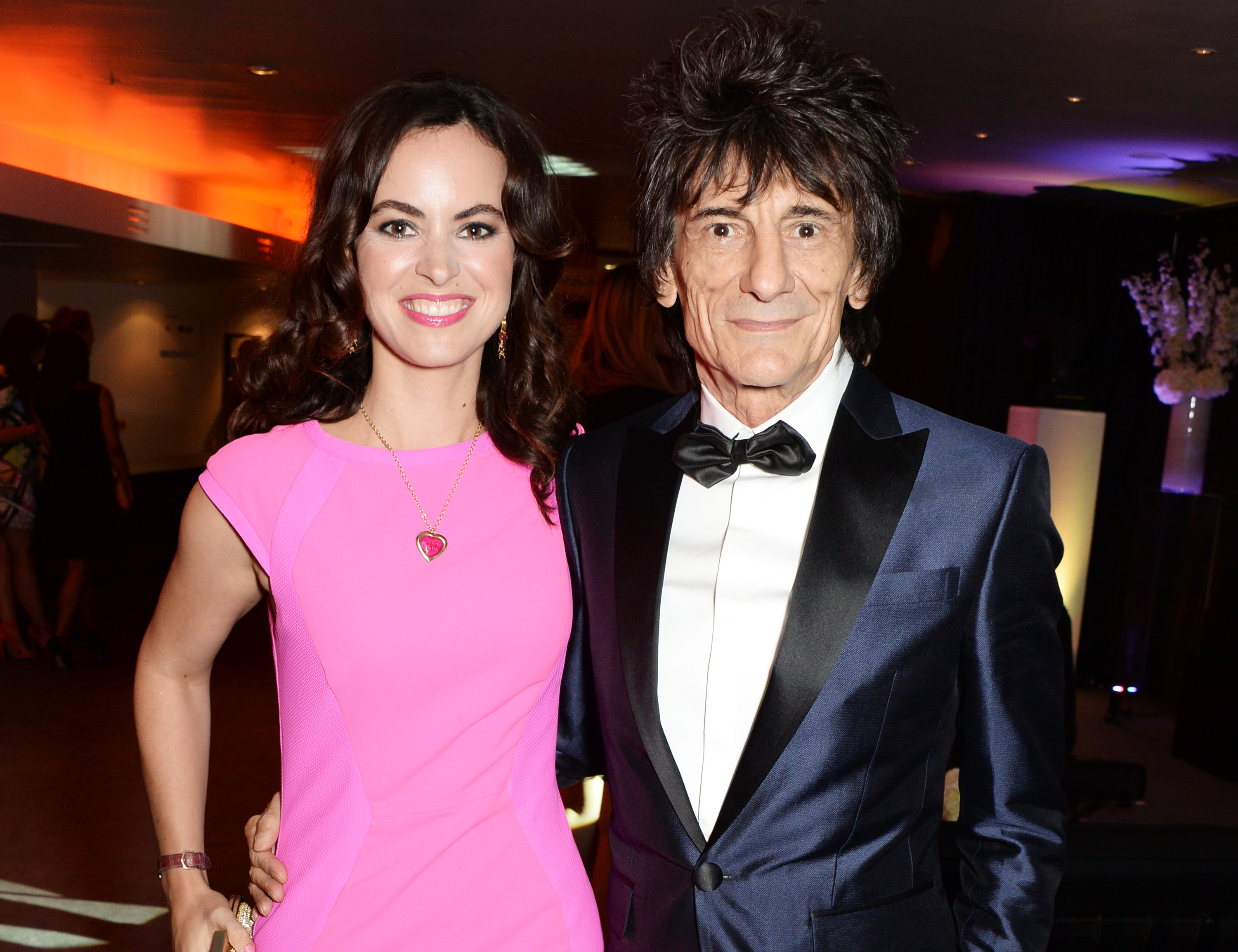 Ronnie Wood has introduced his baby twin daughters to the world and they're adorable