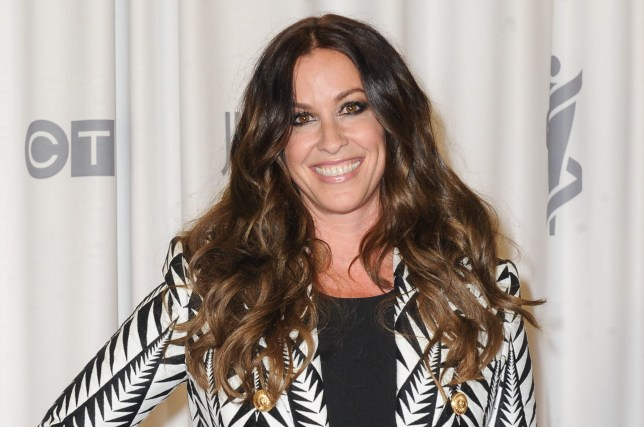 HAMILTON, ON - MARCH 15: Alanis Morissette poses backstage in the press room at the 2015 Juno Awards at FirstOntario Centre on March 15, 2015 in Hamilton, Canada. (Photo by Ernesto Distefano/Getty Images)