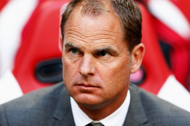 AMSTERDAM, NETHERLANDS - AUGUST 04: Ajax manager / head coach, Frank de Boer looks on during the third qualifying round 2nd leg UEFA Champions League match between Ajax Amsterdam and SK Rapid Vienna held at Amsterdam ArenA on August 4, 2015 in Amsterdam, Netherlands. (Photo by Dean Mouhtaropoulos/Getty Images)