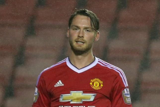 LEIGH, GREATER MANCHESTER - DECEMBER 14:  Nick Powell of Manchester United U21s celebrates scoring their first goal during the Barclays U21 Premier League match between Manchester United U21s and Leicester City U21s at Leigh Sports Village on December 14, 2015 in Leigh, Greater Manchester.  (Photo by Tom Purslow/Man Utd via Getty Images)