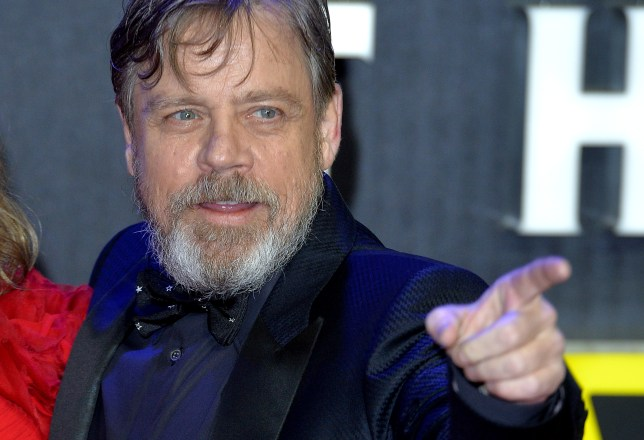"""LONDON, ENGLAND - DECEMBER 16: Mark Hamill attends the European Premiere of """"Star Wars: The Force Awakens"""" at Leicester Square on December 16, 2015 in London, England. (Photo by Anthony Harvey/Getty Images)"""