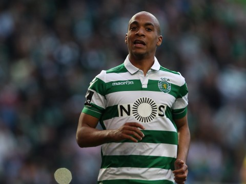 Manchester United scout Joao Mario and William Carvalho ahead of potential transfers