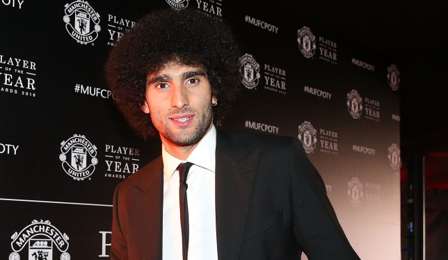 MANCHESTER, ENGLAND - MAY 02: Marouane Fellaini of Manchester United arrives at the club's annual Player of the Year awards at Old Trafford on May 2, 2016 in Manchester, England. (Photo by Matthew Peters/Man Utd via Getty Images)