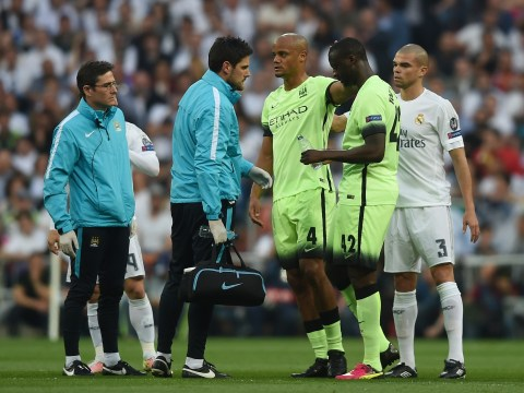 Vincent Kompany a major doubt for Manchester City's clash with Arsenal