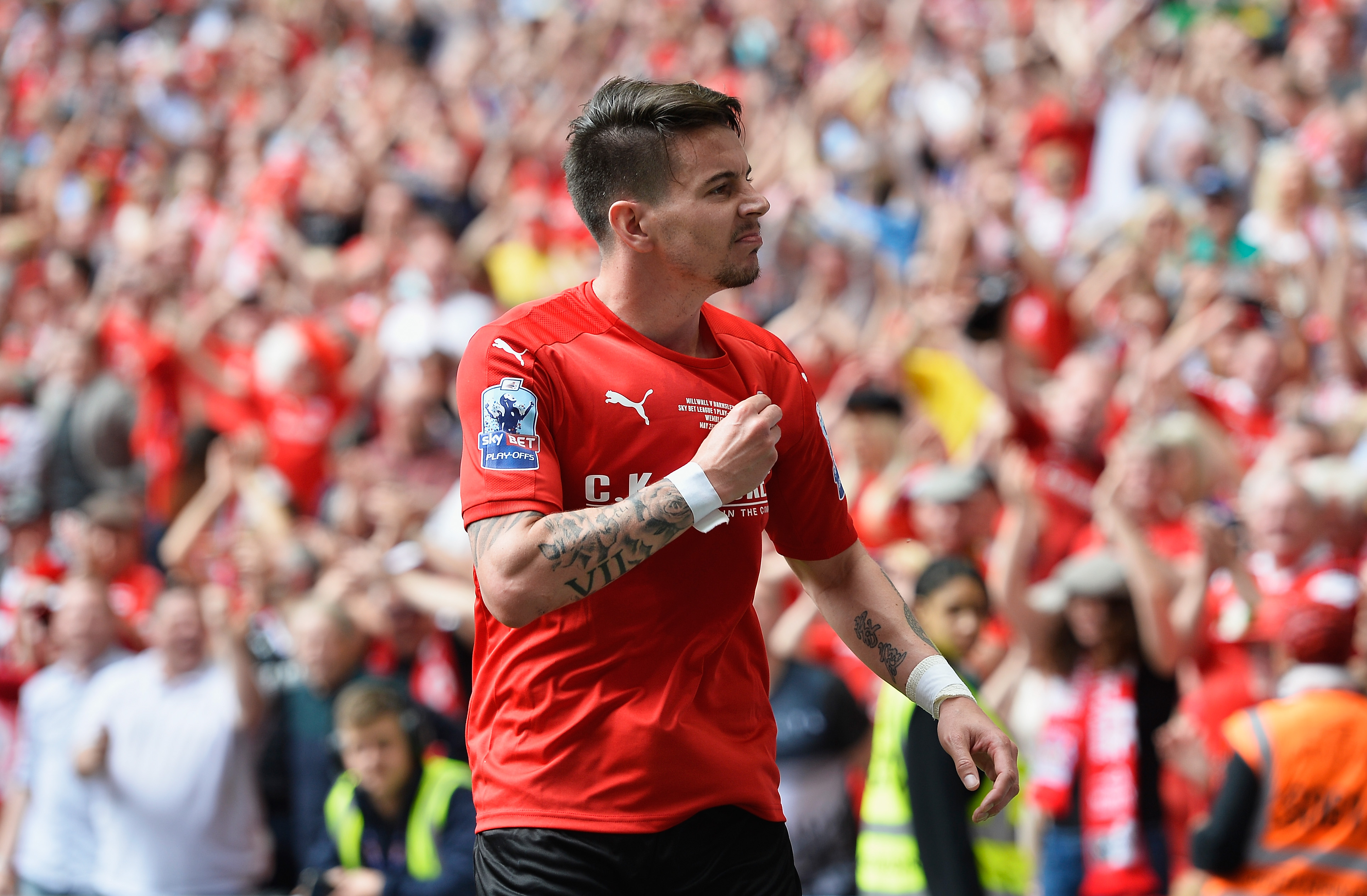 Adam Hammill scores stunning solo goal as Barnsley beat Millwall in the League One play-off final