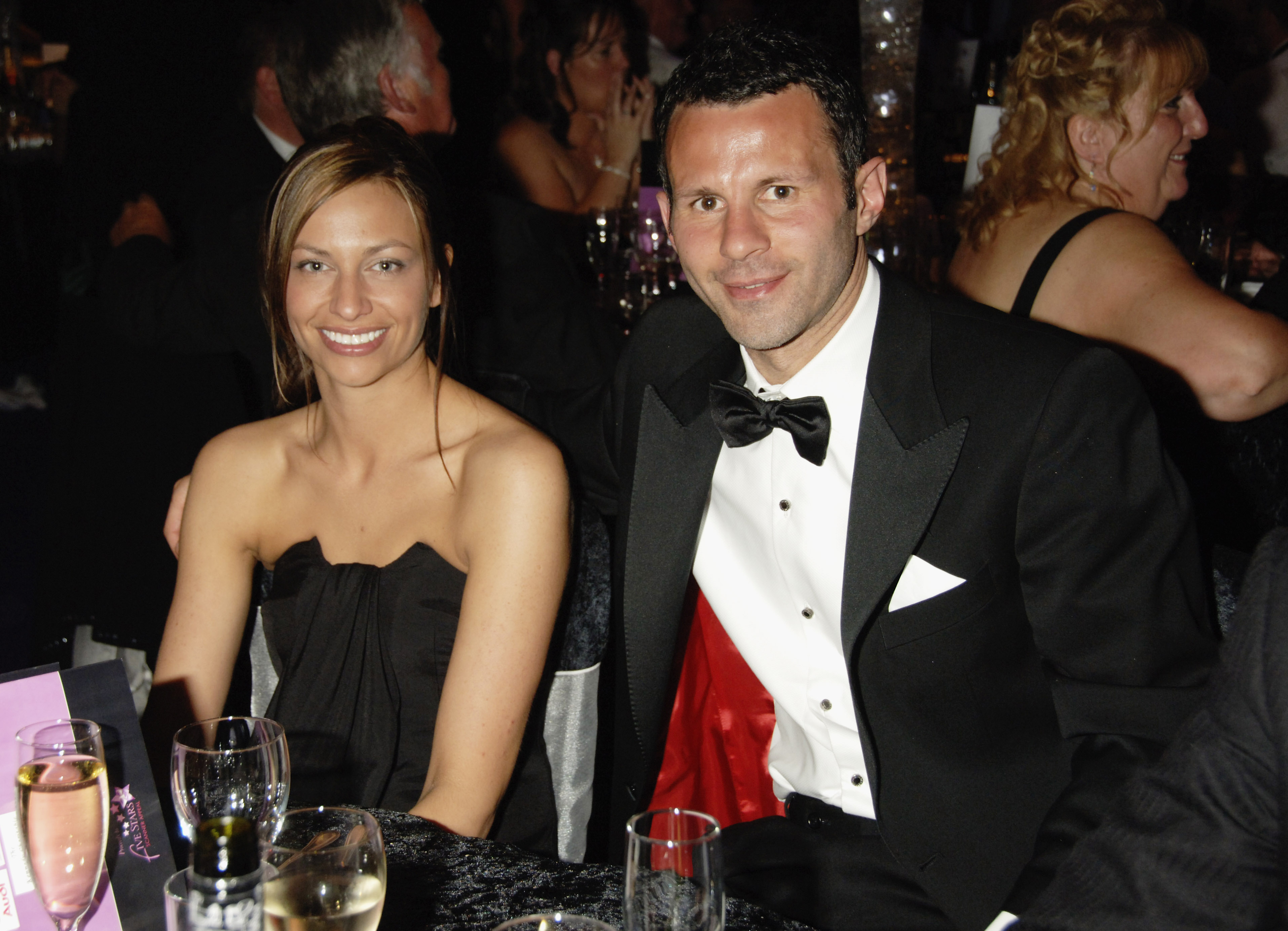 Happier times? Ryan and Stacey Giggs pictured in 2007 (Picture: Dave M. Benett/Getty Images)