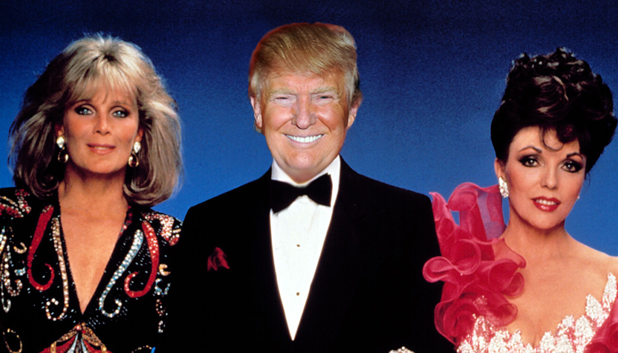 Turns out Donald Trump was desperate to be in Dynasty