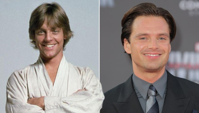 Twitter is loving how much Sebastian Stan looks like a young Mark Hamill CRedit: REX