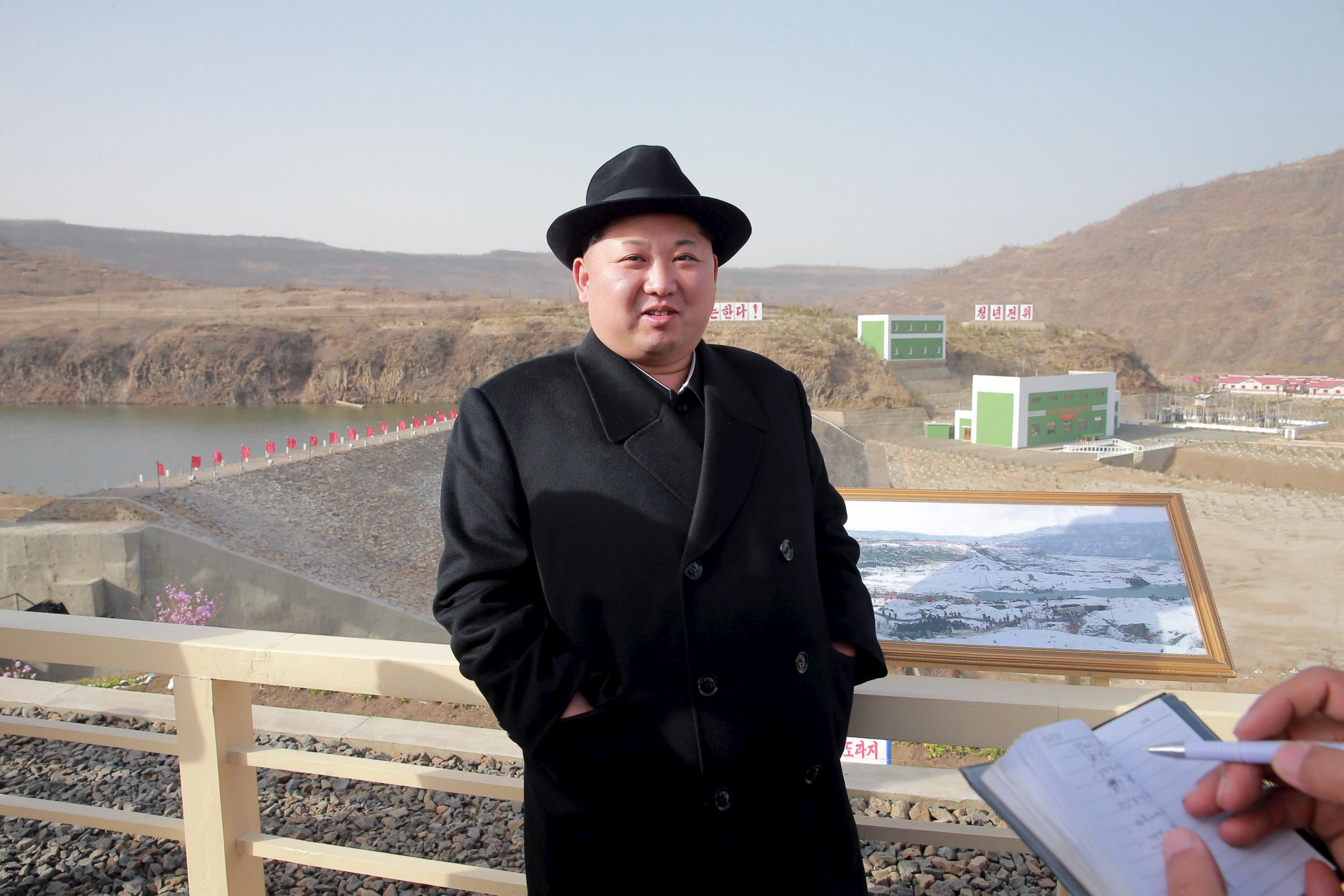North Korean leader Kim Jong Un visits the Paektusan Hero Youth Power Station No. 3 in this undated photo released by North Korea's Korean Central News Agency (KCNA) in Pyongyang on April 23, 2016. KCNA/via REUTERS. ATTENTION EDITORS - THIS IMAGE WAS PROVIDED BY A THIRD PARTY. EDITORIAL USE ONLY. REUTERS IS UNABLE TO INDEPENDENTLY VERIFY THIS IMAGE. SOUTH KOREA OUT. TPX IMAGES OF THE DAY