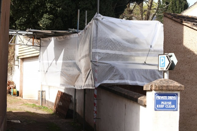 The scene in Bradninch, nr Cullompton, Devon where police were understood to be digging the garden of David and Pauline Williams, May 3 2016. See SWNS story SWWEST; Police are digging up the back garden of the paedophile friends of Fred and Rose West who were jailed for a string of historic sexual offences against TEN children. Evil David Williams, 57, was jailed for life while his wife Pauline, 52, was sentenced to 12 years for subjecting girls and boys to horrific rapes, sexual assaults and beatings. The prolific abusers became friends of the Wests when they lived close to their notorious home in Cromwell Street, Gloucester in the 1980s and 90s. David Williams terrified some of his victims by boasting of his connections to the Wests, who used to drink at the Prince Albert pub which he ran in Gloucester.