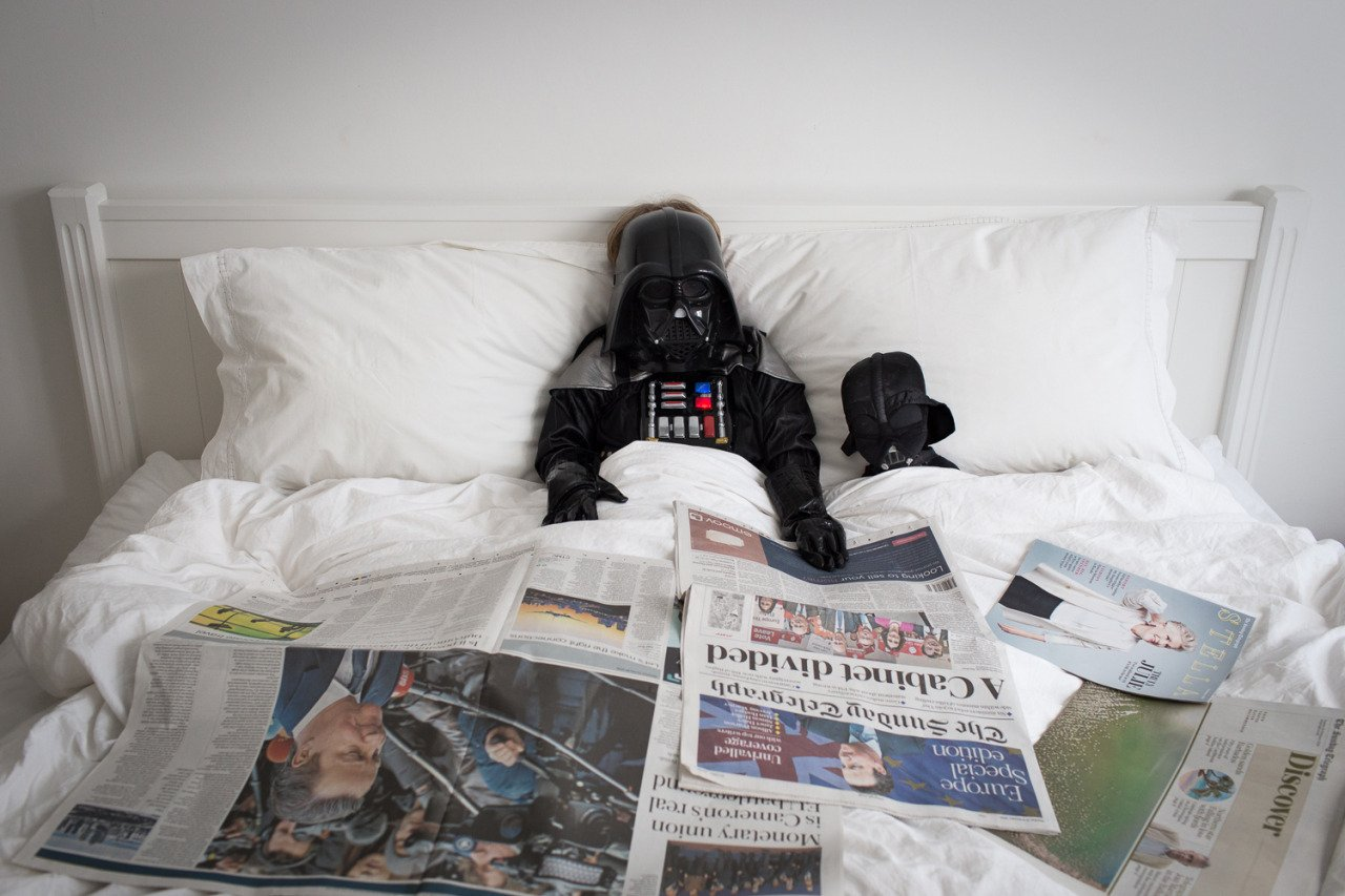 Cute photo series shows what it would look like if your son was Darth Vader Credit: James Hopkirk