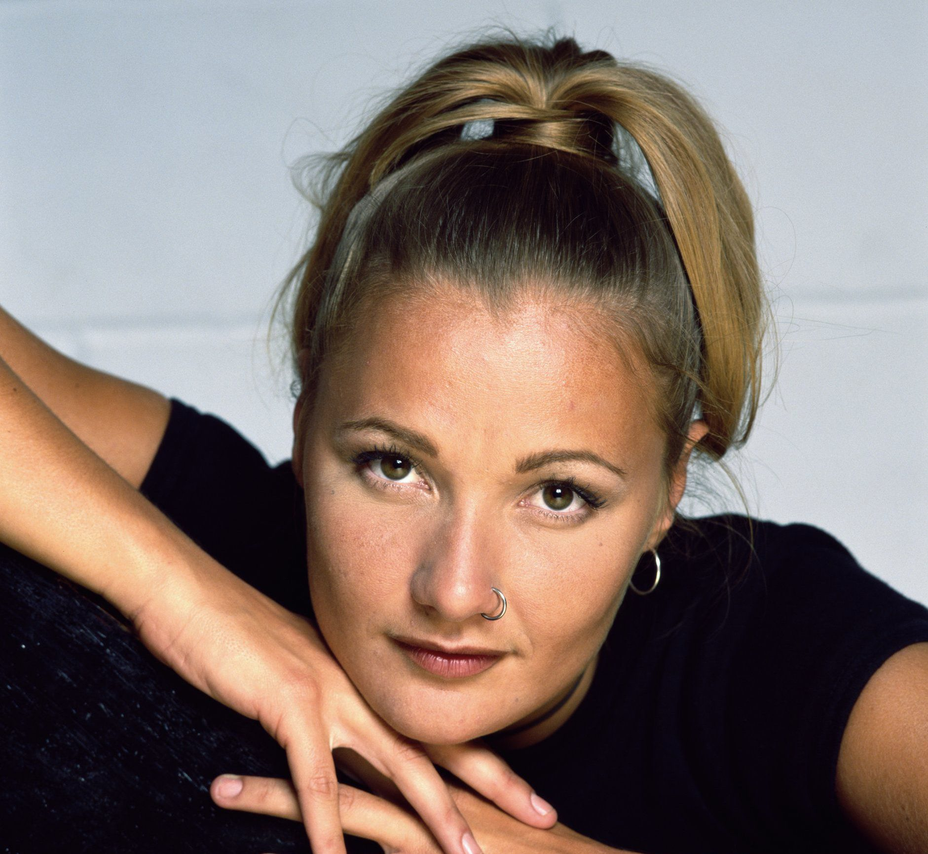 Danish singer Whigfield, circa 1994. (Photo by Tim Roney/Getty Images)