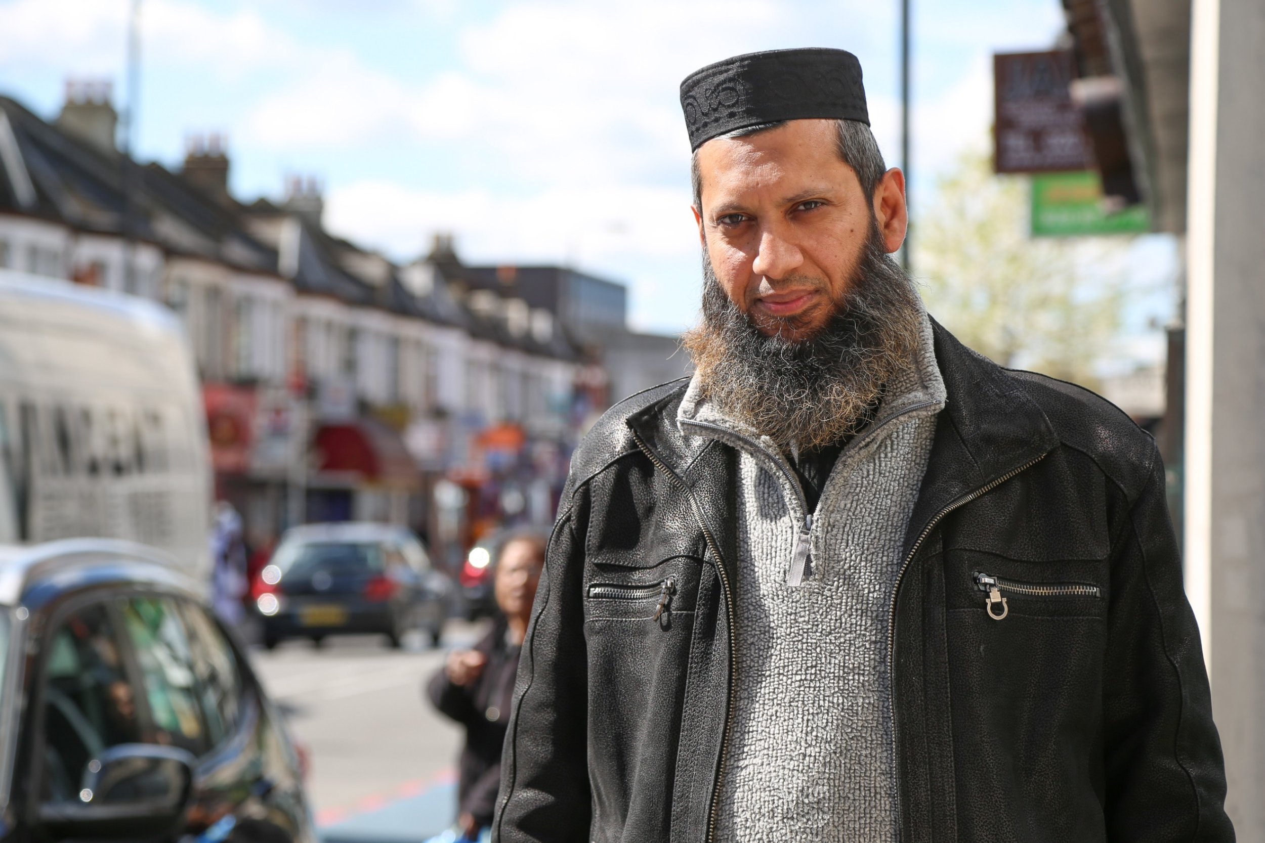 LONDON, UNITED KINGDOM - APRIL 28: A London-based Muslim preacher Suliman Gani is seen during an exclusive interview on in London, United Kingdom on April 28, 2016. In the exclusive interview with Anadolu Agency, Suliman Gani said he was shocked by Prime Minister David Camerons allegations, which he described as racist and Islamophobic. (Photo by Mehmet Ali Maybarskan/Anadolu Agency/Getty Images)