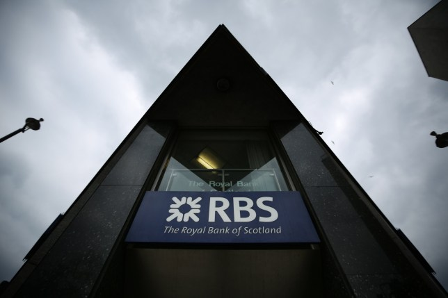 LONDON, ENGLAND - APRIL 03: A branch of The Royal Bank of Scotland on April 3, 2013 in London, England. Investors have launched a compensation claim against The Royal Bank of Scotland claiming that the bank misled shareholders about the state of it's books before it collapsed in 2008. (Photo by Peter Macdiarmid/Getty Images)