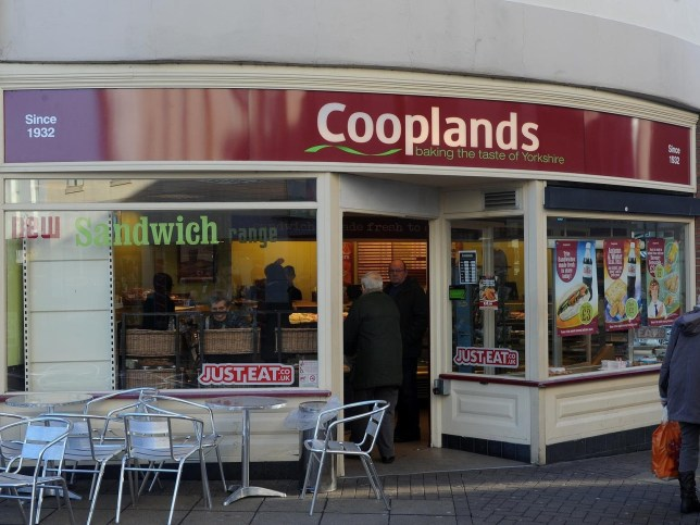 """The Cooplands branch in Baxtergate where the t-shirts were spotted. See Ross Parry copy RPYROLLS : A bakery has been slammed by customers after staff were spotted wearing """"offensive"""" t-shirts baring the slogan """"sex, drugs and sausage rolls"""". Workers at bakery firm Cooplands were spotted wearing the t-shirts at a branch in Doncaster town centre, South Yorks., yesterday (12/5). One customer, who objected to the t-shirts but didn't want to be named, said: """"The use of the words sex and drugs in a public area of a food outlet is, in my eyes, inappropriate and could be offensive to shoppers across the age spectrum. Credit: SWNS"""