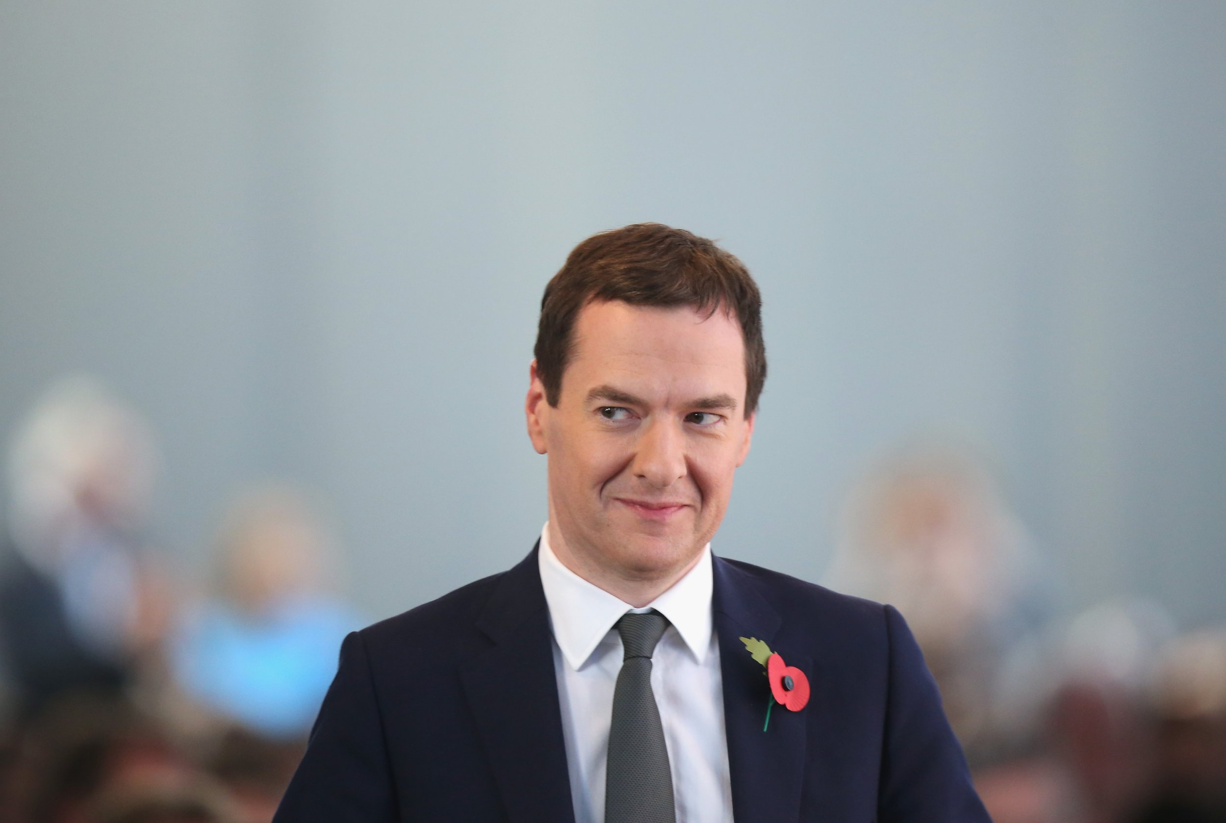"BERLIN, GERMANY - NOVEMBER 03: British Chancellor of the Exchequer George Osborne attends the ""Day of German Indsutry"" annual gathering on November 3, 2015 in Berlin, Germany. Hosted by the German Federation of Industry (BDI), the annual gathering brings together industrial leaders from across Germany as well as political leaders. (Photo by Sean Gallup/Getty Images)"