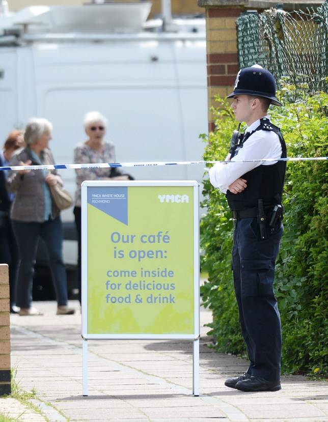 Police at the scene at a car park in Hampton, west London, where a man in his 60s has been arrested on suspicion of attempted murder after four women were stabbed at around 10.35am. PRESS ASSOCIATION Photo. Picture date: Friday May 20, 2016. All four victims suffered knife wounds and one was reportedly airlifted to hospital, where her condition was described as life-threatening. See PA story POLICE Carpark. Photo credit should read: Stefan Rousseau/PA Wire