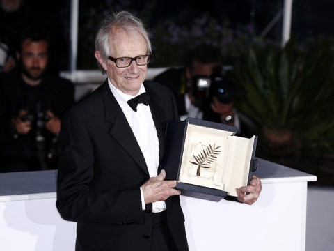 Ken Loach derides austerity measures as he accepts Palme d'Or at this year's Cannes Film Festival