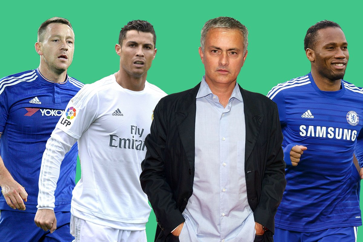 Jose Mourinho's best ever XI, with Cristiano Ronaldo and Mesut Ozil alongside Chelsea legends