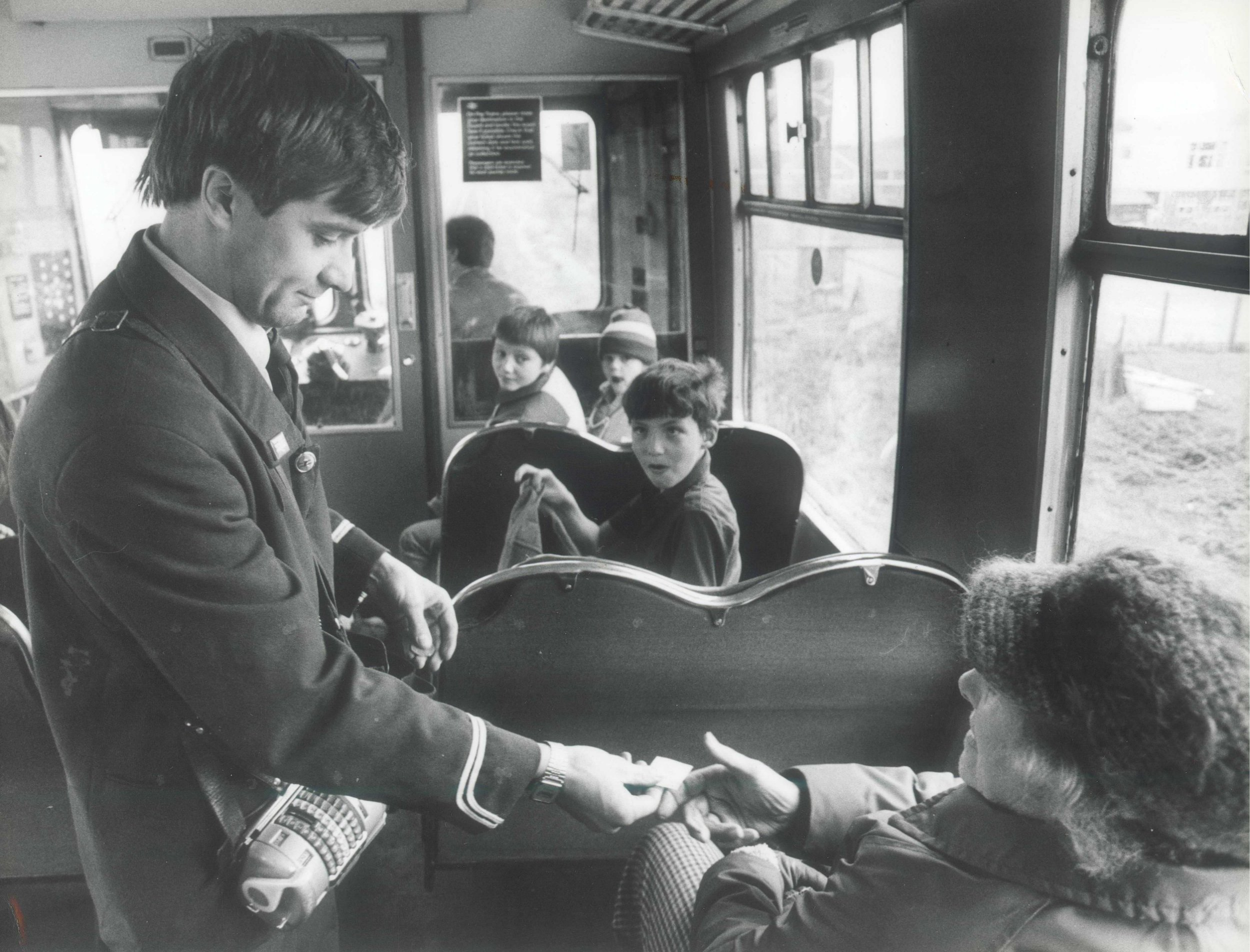 TRAIN conductors are set to stop clipping passengers¿ tickets ¿ so that they won¿t get sore wrists...Abellio Greater Anglia today said it will phase out the 150-year-old tradition after health and safety requests from scores of its front-line staff...Employees often see up to 600 travellers on a single journey...Just the ticket - conductor Peter Francis clips passengers' tickets on a train in Norfolk in october 1983.