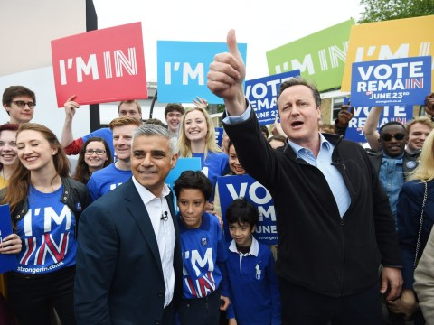 Sadiq Khan and David Cameron join forces for EU In campaign