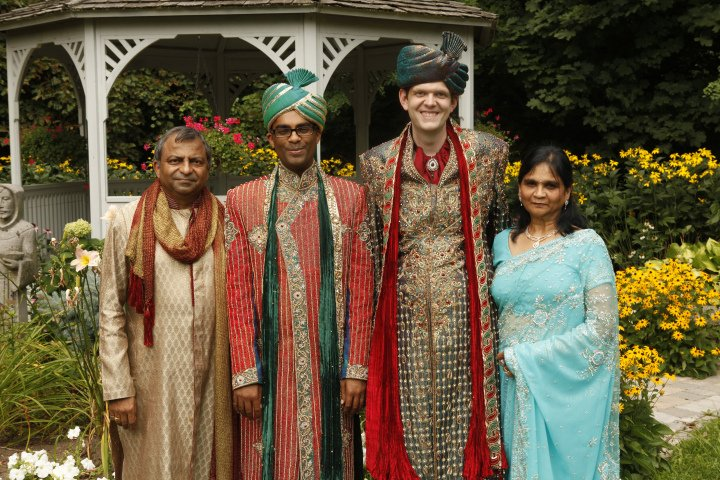 Rishi & Dan Hindu Gay Wedding Pioneering South Asian parents start Peel chapter of PFLAG When their son asked for a big fat Hindu gay wedding, Vijay and Sushma Agarwal had to face up to their community's fear and silence. CREDIT: Sukhbir Channa Photography add link: http://www.channaphotography.com/rishi-dans-wedding/