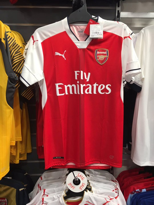 release date 9f474 c3a80 Arsenal 2016/17 home and away kits revealed as they go on ...