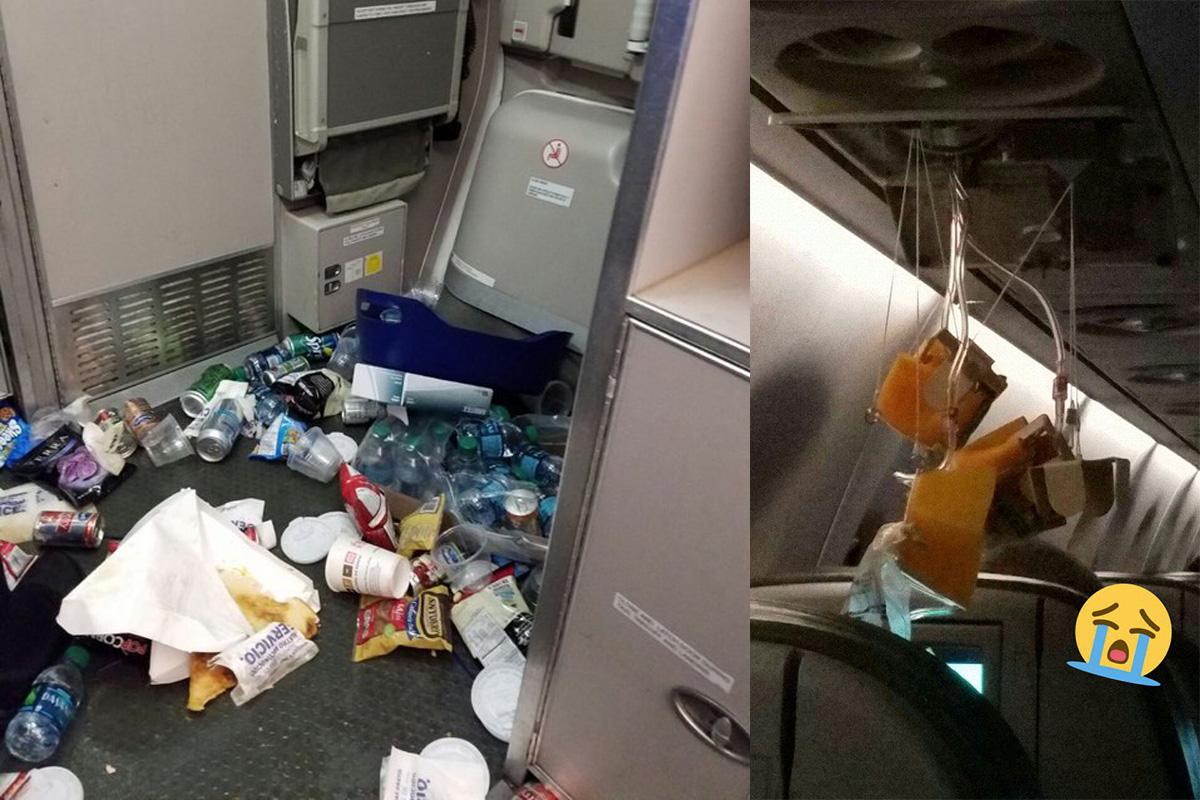 Plane's turbulence was so bad a fridge exploded