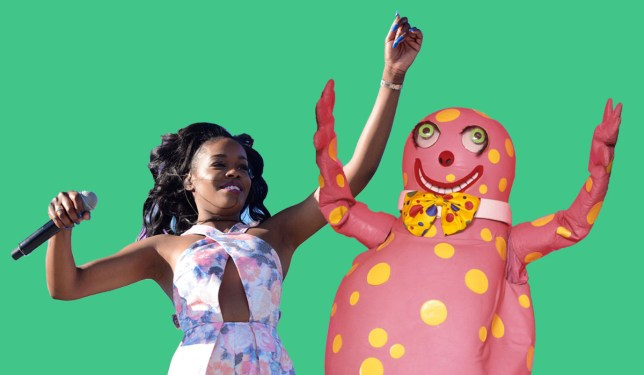 Someone has compared Azealia Banks' record sales' figures to Mr Blobby's - and the results may surprise you Credit: Getty/ Rex