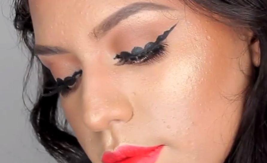 bubble eyeliner makeup trend