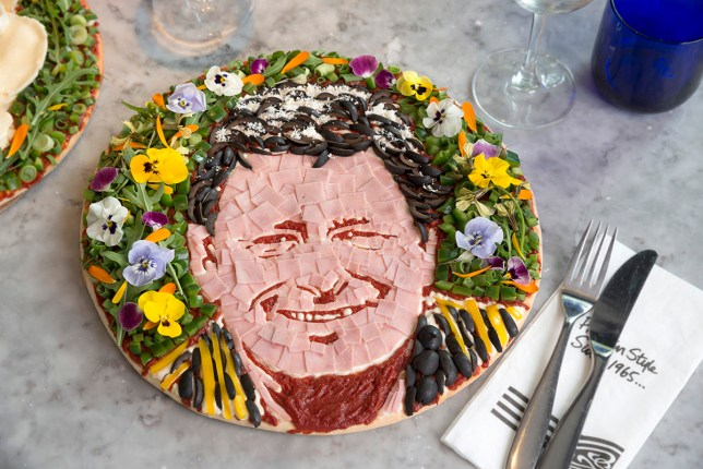 Alan Titchmarsh pizza: Is this the most beautiful celebrity face food ever? Credit: Pizza Express
