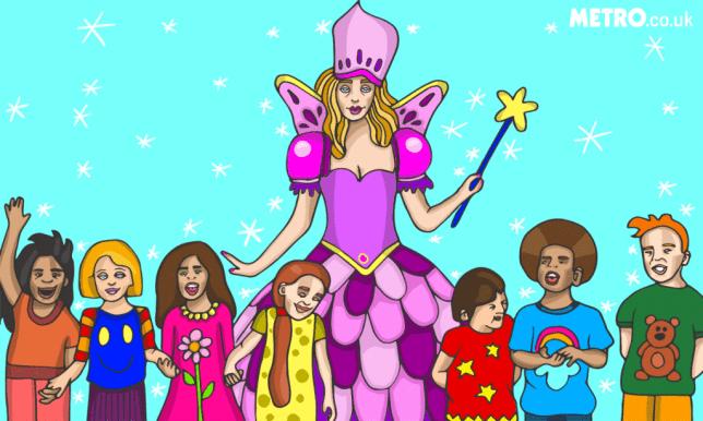children with fairy