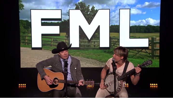 Jimmy Fallon and Keith Urban sing FML posts country style and it's hilarious