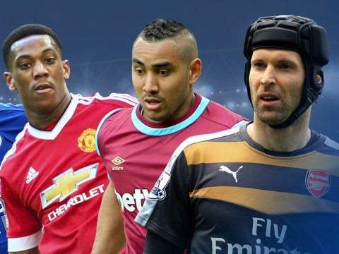 Arsenal's Petr Cech, Manchester United's Anthony Martial and the Premier League 2015/16 best new signings XI