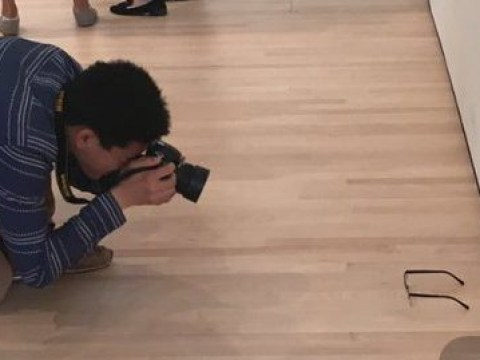 A teenager put a pair of glasses on the floor of a gallery and everyone thought it was art
