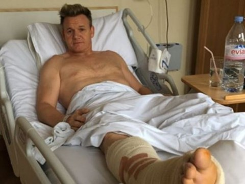 Gordon Ramsay ruptures his Achilles tendon and rules himself out of Soccer Aid