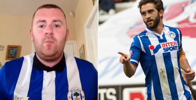 Wigan give fan behind 'Will Grigg's on fire' tune free season ticket for 'best chant ever known to man'