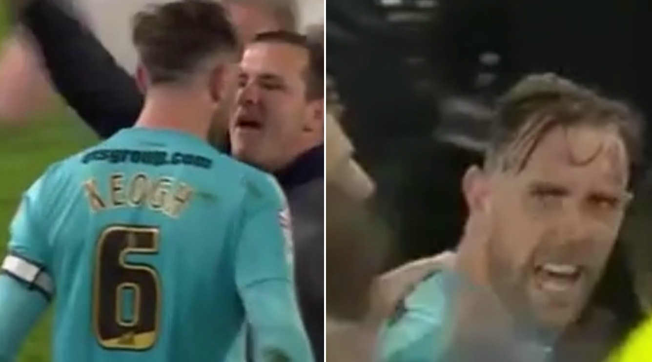 Watch – Derby County's Richard Keogh taunted by Hull City fan after Championship play-off defeat