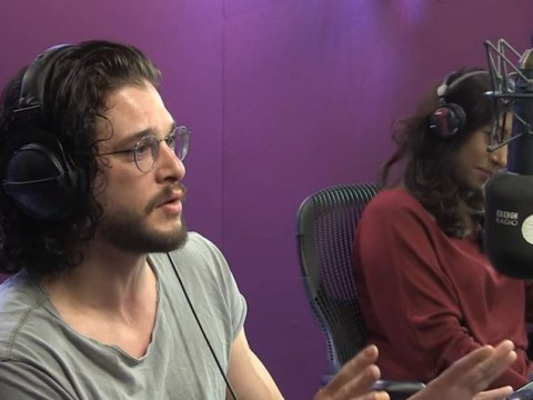 WATCH: Kit Harington gets a call from Maisie Williams live on BBC Radio 1