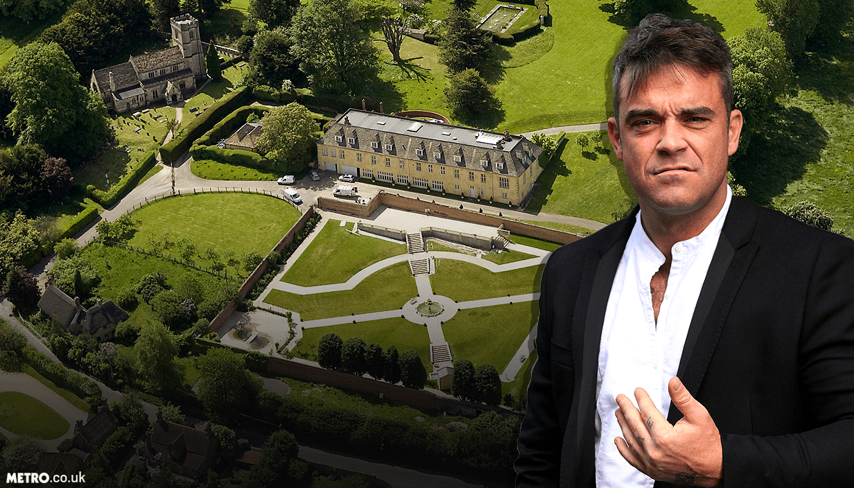 Robbie Williams at war with Parish council over fence Picture: SWNS