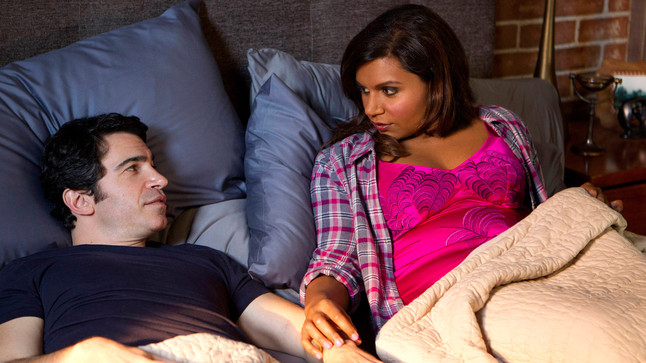 """THE MINDY PROJECT: Danny (Chris Messina, L) and Mindy (Mindy Kaling, R) discuss their move to San Francisco in the """"Lahiri Family Values"""" episode of THE MINDY PROJECT airing Tuesday, Feb. 17 (9:30-10:00 PM ET/PT) on FOX. ©2015 John P. Fleenor/FOX"""