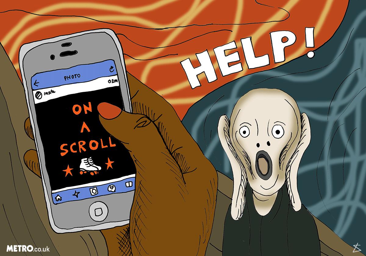 10 signs you're addicted to social media Liberty-Antonia-Sadler_Metro_Illustration