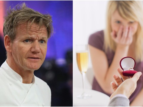Gordon Ramsay completely and utterly ruined a couple's proposal at his Las Vegas restaurant