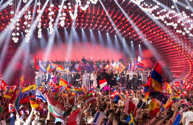 Mandatory Credit: Photo by Rolf Klatt/REX/Shutterstock (4786572r) The opening act at the grand final show of the Eurovision Song Contest 2015 Eurovision Song Contest Grand Final, Vienna, Austria - 23 May 2015