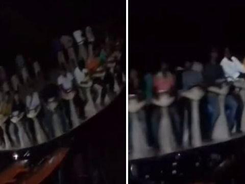 Video captures horror fairground crash which killed a rider
