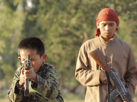 Isis recruitment video shows kids as young as 8 training with guns