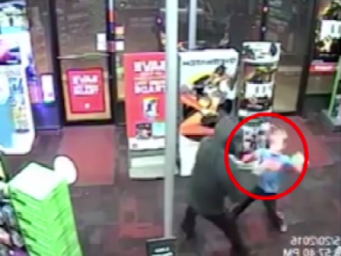 Fearless boy, 7, punches armed robber in the stomach
